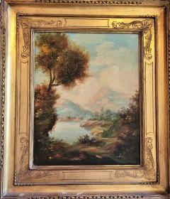 Pair of Early 20C Italian Oil on Board Landscapes by Nesi - 2121197