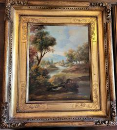 Pair of Early 20C Italian Oil on Board Landscapes by Nesi - 2121198