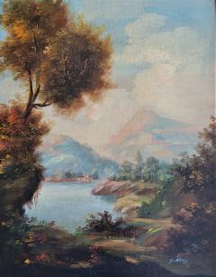 Pair of Early 20C Italian Oil on Board Landscapes by Nesi - 2121201