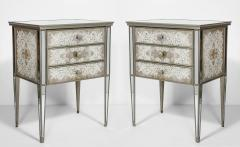 Pair of Eglomis Mirrored Tables - 1924772