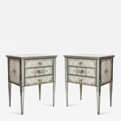 Pair of Eglomis Mirrored Tables - 1926979