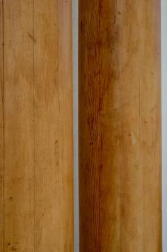 Pair of Elegant Tall Fluted Decorative Pine Columns - 916142