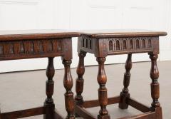 Pair of English 19th Century Oak Joint Stools - 1112779