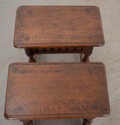 Pair of English 19th Century Oak Joint Stools - 1112780