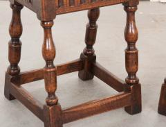 Pair of English 19th Century Oak Joint Stools - 1112781