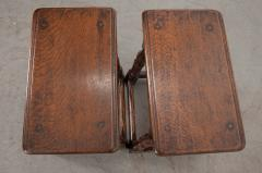 Pair of English 19th Century Oak Joint Stools - 1112783