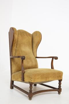 Pair of English Armchairs in Velvet and Walnut Wood from the Late 19th Century - 2084164
