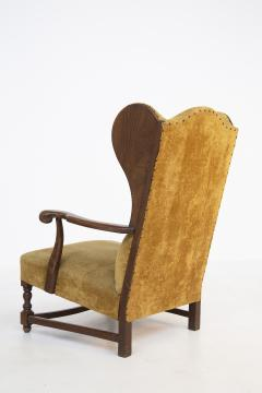 Pair of English Armchairs in Velvet and Walnut Wood from the Late 19th Century - 2084165