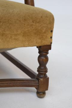 Pair of English Armchairs in Velvet and Walnut Wood from the Late 19th Century - 2084177