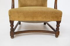 Pair of English Armchairs in Velvet and Walnut Wood from the Late 19th Century - 2084178