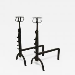 Pair of English Cotswold School Andirons - 664475