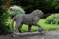 Pair of English Large Cast Stone Medici Lions - 1965016