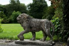 Pair of English Large Cast Stone Medici Lions - 1965017