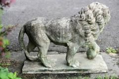 Pair of English Large Cast Stone Medici Lions - 1965019