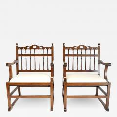 Pair of English North Country Drunkards Arm Chairs - 2029027