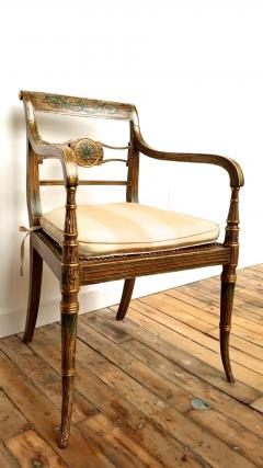 Pair of English Regency Painted Armchairs - 162894