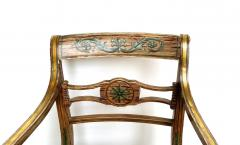 Pair of English Regency Painted Armchairs - 162895