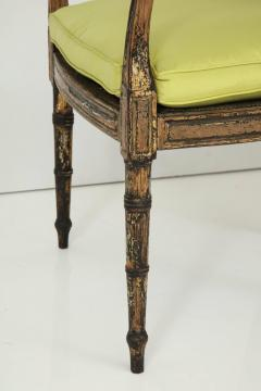 Pair of English Regency Painted and Parcel Gilt Side Chairs - 781791