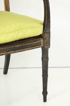 Pair of English Regency Painted and Parcel Gilt Side Chairs - 781795