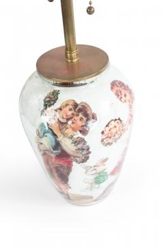 Pair of English Victorian Decoupage Table Lamps - 1381359