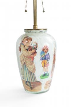 Pair of English Victorian Decoupage Table Lamps - 1381361