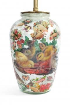 Pair of English Victorian Decoupage Table Lamps - 1381362