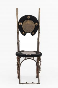 Pair of English Victorian Horseshoe Side Chairs - 1418213