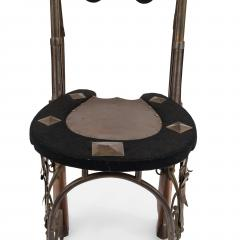 Pair of English Victorian Horseshoe Side Chairs - 1418216