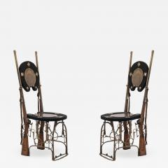 Pair of English Victorian Horseshoe Side Chairs - 1420478