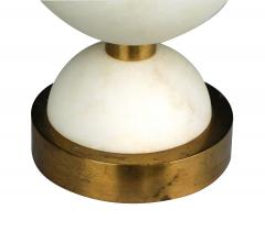 Pair of English brass and alabaster positano lamps by Vaughn London - 2130429
