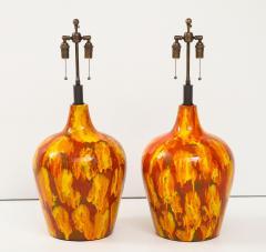 Pair of Enormous Italian Ceramic Lamps - 1795211