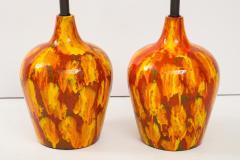 Pair of Enormous Italian Ceramic Lamps - 1795215
