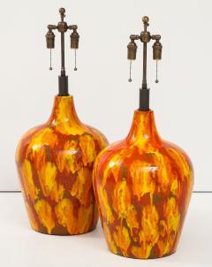 Pair of Enormous Italian Ceramic Lamps - 1795218