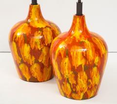 Pair of Enormous Italian Ceramic Lamps - 1795224