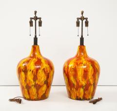 Pair of Enormous Italian Ceramic Lamps - 1795226