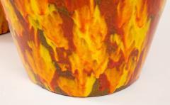 Pair of Enormous Italian Ceramic Lamps - 1795230