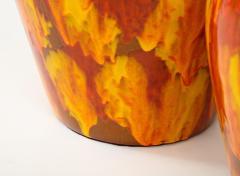 Pair of Enormous Italian Ceramic Lamps - 1795231