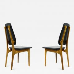 Pair of Erik Buch High Back Chair Denmark 1960s - 897855
