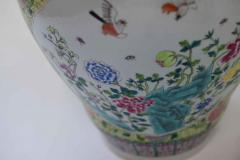 Pair of Famille Rose Porcelain Vases with Covers - 1899802
