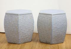 Pair of Faux Bamboo Garden Stools - 1311059