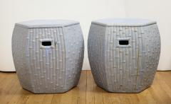 Pair of Faux Bamboo Garden Stools - 1311063
