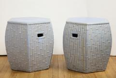 Pair of Faux Bamboo Garden Stools - 1311067