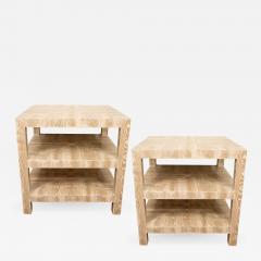 Pair of Faux Bois Side Tables - 1100909