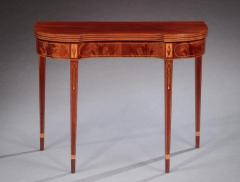 Pair of Federal Inlaid Kidney Shaped Card Tables - 1401170