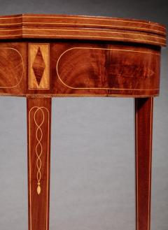 Pair of Federal Inlaid Kidney Shaped Card Tables - 1401173