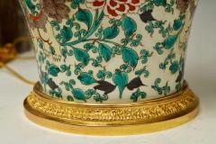 Pair of Fine Painted Famille Verte Porcelain Lamps - 1899739