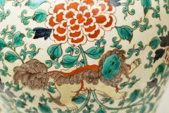 Pair of Fine Painted Famille Verte Porcelain Lamps - 1899741