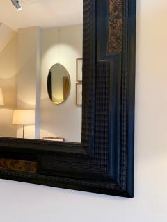Pair of Flemish Style Faux Tortoishell and Ebonised Ripple Frame Mirrors - 1493284