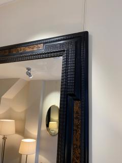 Pair of Flemish Style Faux Tortoishell and Ebonised Ripple Frame Mirrors - 1493285