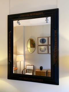 Pair of Flemish Style Faux Tortoishell and Ebonised Ripple Frame Mirrors - 1493286